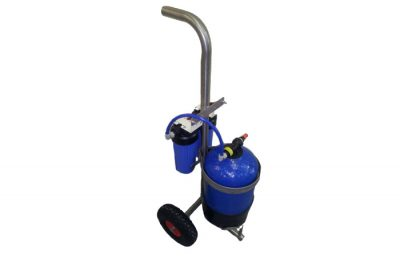 di vessel 12ltr with filters and ss trolley