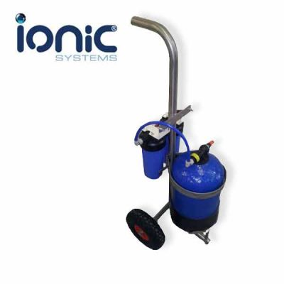 ionic-kit-di-vessel-12ltr-w-filters-ss-trolley