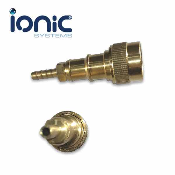 Brass hose connector for mm pu